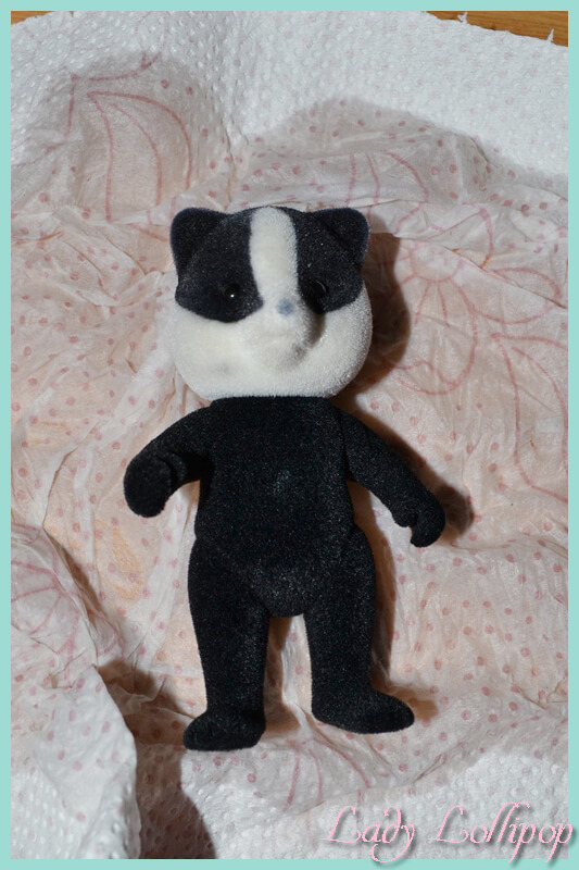Sylvanian Families Badger chosen to repaint as a ratel