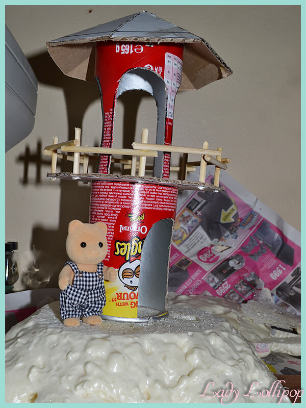 Sylvanian Families DIY Lighthouse with Easy Buy Bear for scale