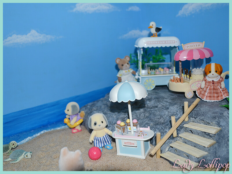 Beachfront diorama for Sylvanian families and calico critters