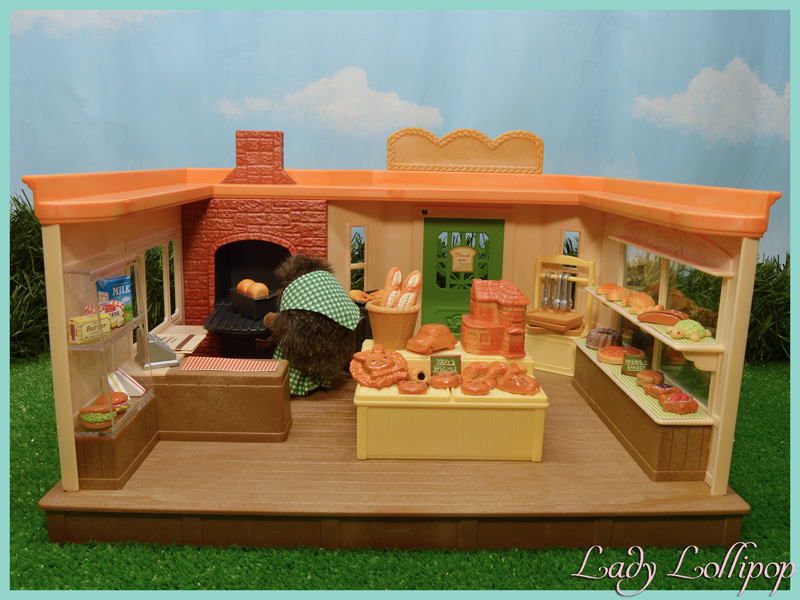Sylvanian Families Brick Oven Bakery with hedgehog baker
