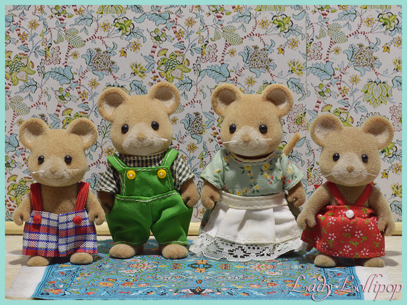 Sylvanian Families Norwood Mouse Family TOMY