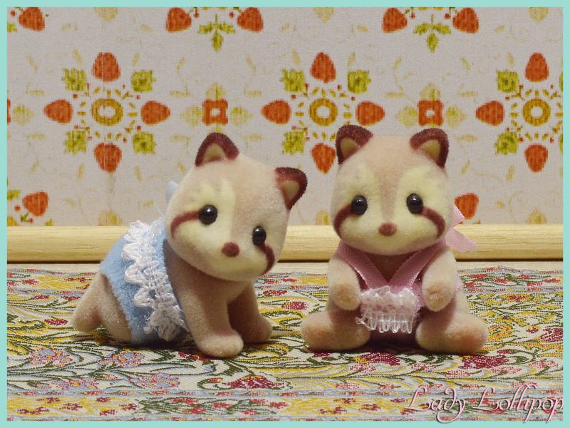 Sylvanian Families Calico Critters Mulberry Raccoon Twins