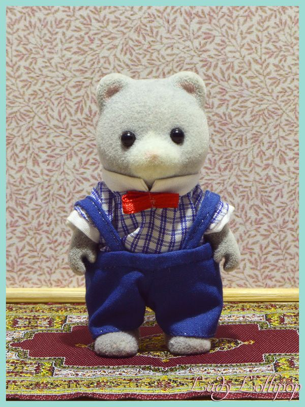Uncle Henry Bearbury the Sylvanian music teacher without his coat