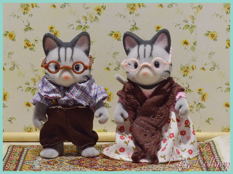 Calico Critters Fisher Cat Grandparents