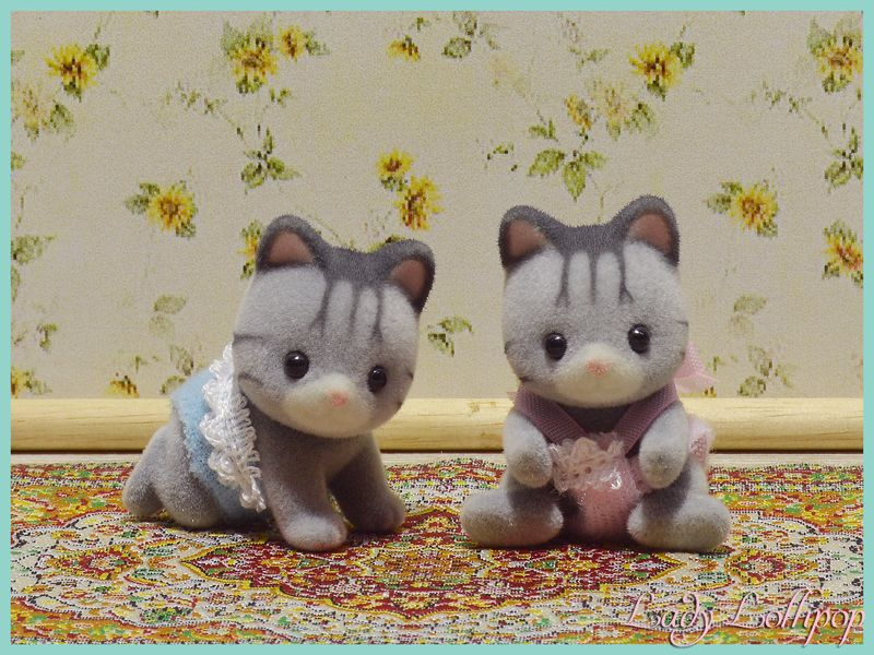 Calico Critters Fisher Cat Twins
