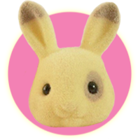 Sylvanian Families Hoppinset Corntop Dutch Rabbit Family