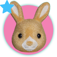 Sylvanian Families Japanese Golden Teardrop Rabbit Family
