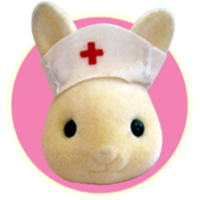 Sylvanian Families Japanese Little Shop Nurse Rabbit Family